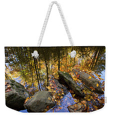 Stream Side Reflections Weekender Tote Bag