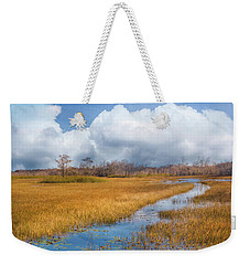Weekender Tote Bag featuring the photograph Stream Through The Everglades by Debra and Dave Vanderlaan