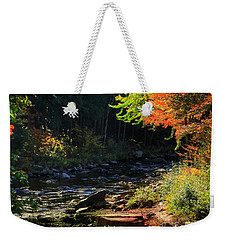 Weekender Tote Bag featuring the photograph Stream by Tom Prendergast