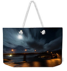 Weekender Tote Bag featuring the photograph Streaming by Alex Lapidus