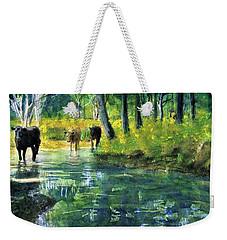 Streaming Cows Weekender Tote Bag