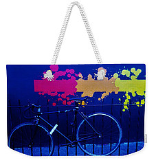 Street Art Bike In New York Weekender Tote Bag by Funkpix Photo Hunter