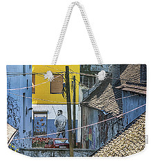 Street Art In Novi Sad - Angler Weekender Tote Bag by Jivko Nakev