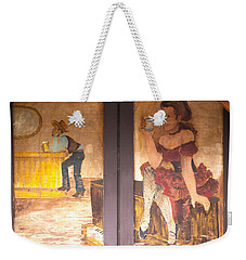 Weekender Tote Bag featuring the photograph Street Art - Melba, Id by Dart and Suze Humeston