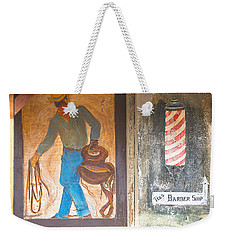 Weekender Tote Bag featuring the photograph Street Art - Melba, Id by Dart Humeston