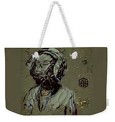 Weekender Tote Bag featuring the painting Wheat Paste Art Abstract  by Sheila Mcdonald