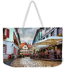 Street Cafe After The Rain Weekender Tote Bag