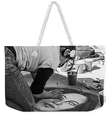 Weekender Tote Bag featuring the photograph Street Chalk Artist by SR Green