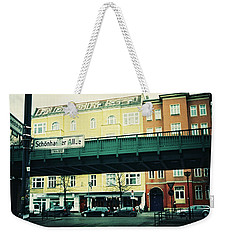 Street Cross With Elevated Railway Weekender Tote Bag