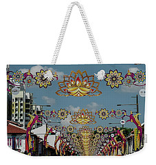Street Decorations Weekender Tote Bag by Jocelyn Kahawai