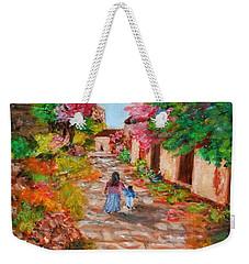 Street In Monemvasia Weekender Tote Bag