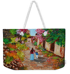 Street In Monemvasia Weekender Tote Bag