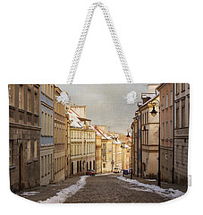 Weekender Tote Bag featuring the photograph Street In Warsaw, Poland by Juli Scalzi