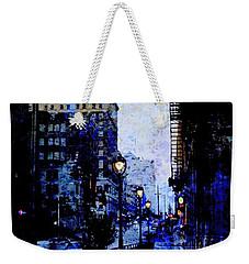 Street Lamps Sidewalk Abstract Weekender Tote Bag