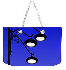 Street Light And Moonrise Weekender Tote Bag
