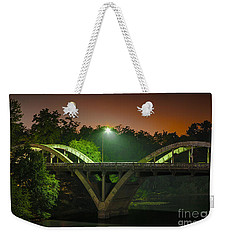Street Light On Rogue River Bridge Weekender Tote Bag by Jerry Cowart