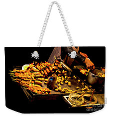 Weekender Tote Bag featuring the photograph Street Meat by Al Bourassa