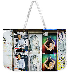 Street Poster Paris Weekender Tote Bag by Hugh Smith