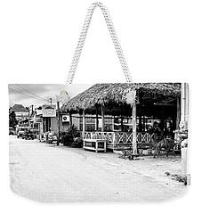 Street Scene On Caye Caulker Weekender Tote Bag
