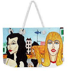 Street Scene With Sue Looking At You Weekender Tote Bag