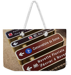 Street Sign In Avignon Weekender Tote Bag