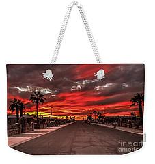 Street Sunset Weekender Tote Bag by Robert Bales