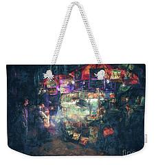 Street Vendor Food Stand Weekender Tote Bag