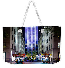 Weekender Tote Bag featuring the photograph Rockefeller Center by M G Whittingham