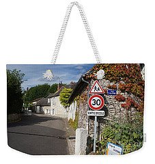 Weekender Tote Bag featuring the photograph Street View Of Giverny by Therese Alcorn
