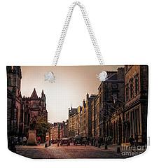Streets Of Edinburgh Scotland  Weekender Tote Bag