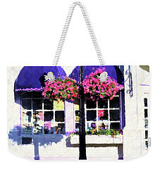 Streetside Balcony Weekender Tote Bag by Desiree Paquette