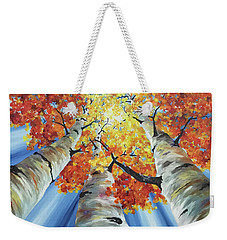 Striking Fall Weekender Tote Bag