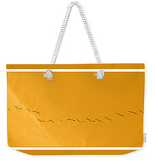 String Of Birds In Orange Weekender Tote Bag