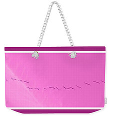 String Of Birds In Purple Weekender Tote Bag
