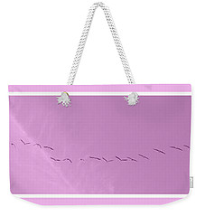 String Of Birds In Rose Pink Weekender Tote Bag