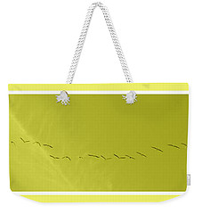 String Of Birds In Yellow Weekender Tote Bag