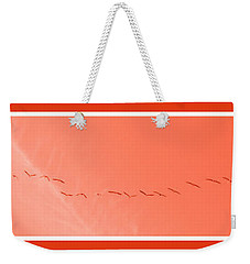 String  Of Brids In Red Weekender Tote Bag