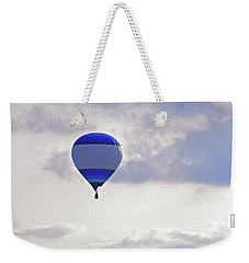 Weekender Tote Bag featuring the photograph Striped Balloon by Angela Murdock