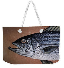 Striped Bass 1 Weekender Tote Bag by Andrew Drozdowicz