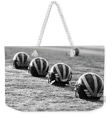 Striped Helmets On The Field Weekender Tote Bag