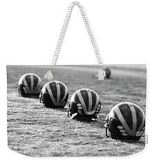 Striped Helmets On The Field Weekender Tote Bag