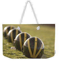 Striped Helmets On Yard Line Weekender Tote Bag
