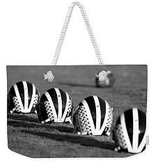 Striped Helmets With Football Weekender Tote Bag