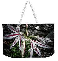 Striped Lilies Weekender Tote Bag