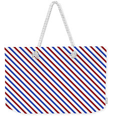Stripes Diagonal Carmine Red Cobalt Blue Simple Modern Weekender Tote Bag