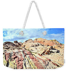 Stripes Of Valley Of Fire Weekender Tote Bag