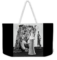 Weekender Tote Bag featuring the photograph Stroll In The Museum by Elf Evans