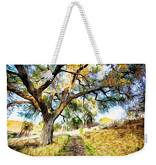 Strolling Down The Path Weekender Tote Bag by Carol Crisafi