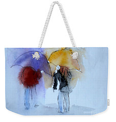 Strolling In The Rain Weekender Tote Bag