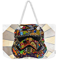 Weekender Tote Bag featuring the tapestry - textile Strom Trooper Afrofuturist  by Apanaki Temitayo M